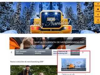 Ejemplo Navidad en página web Navidad y estrategia digital