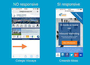 Página web responsive ejemplos