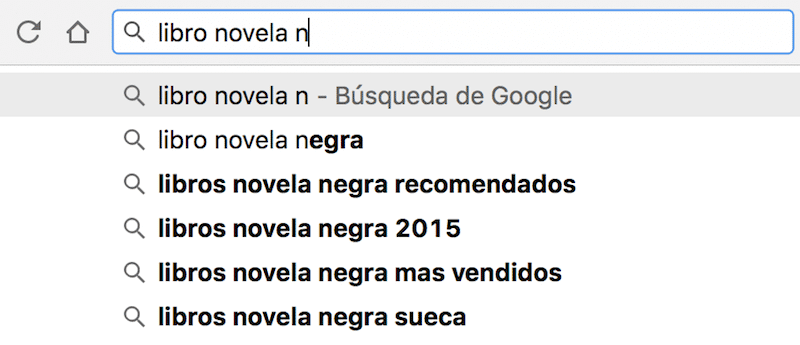 Herramientas para buscar palabras clave Google Suggest