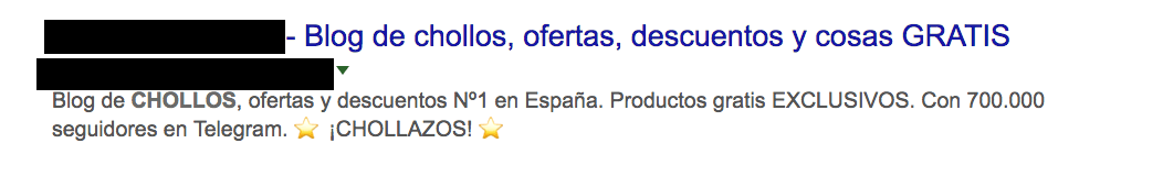ejemplo meta descripción con emojis