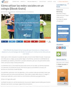 Pantallazo Blog de Creando Ideas