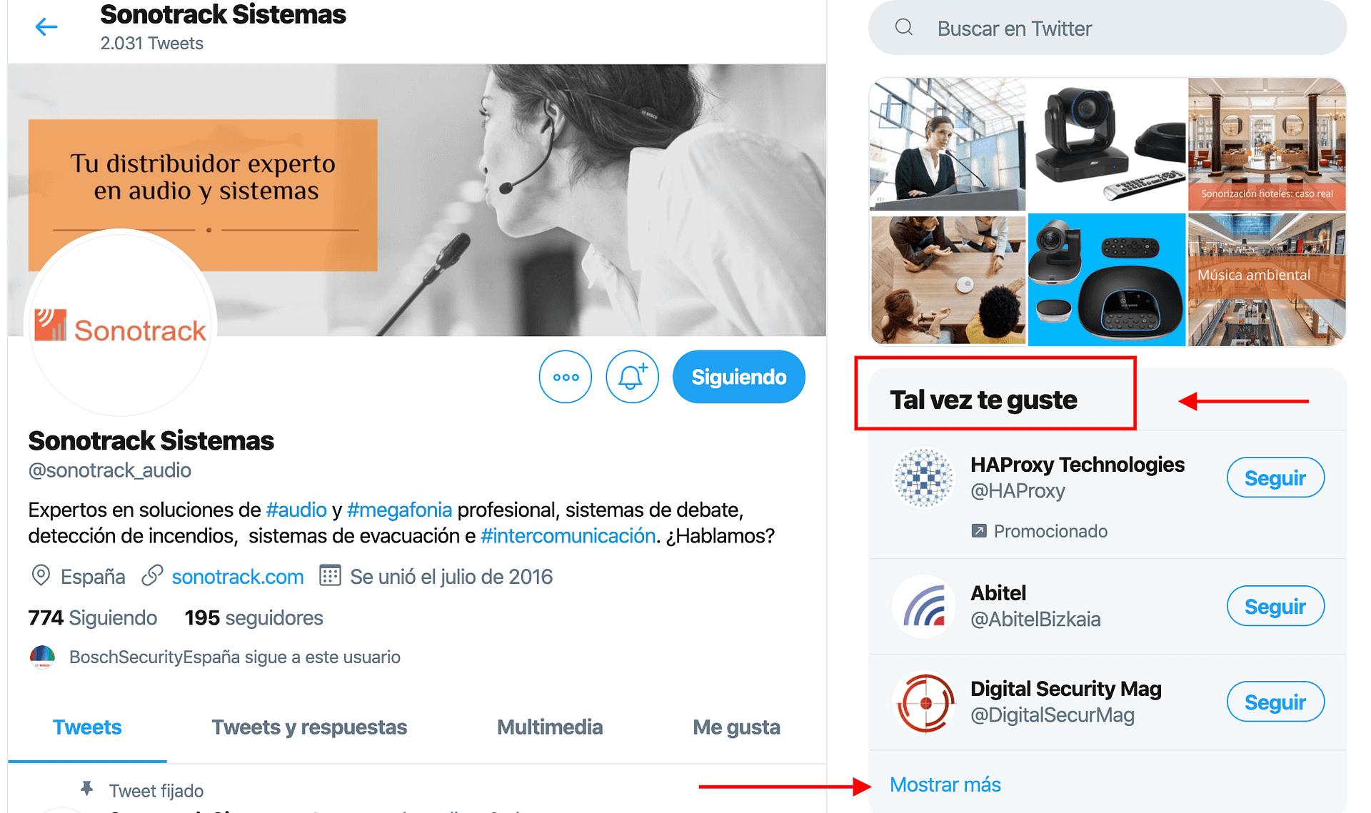 Uso de Twitter ejemplo de cuentas que tal vez te interesen