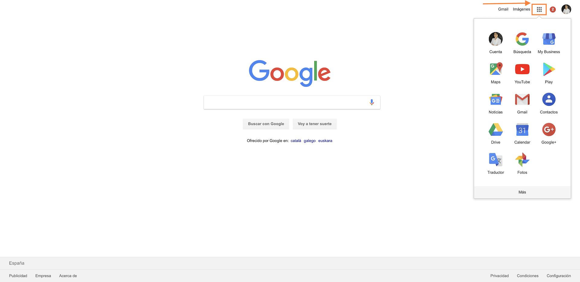 productos y servicios del ecosistema google