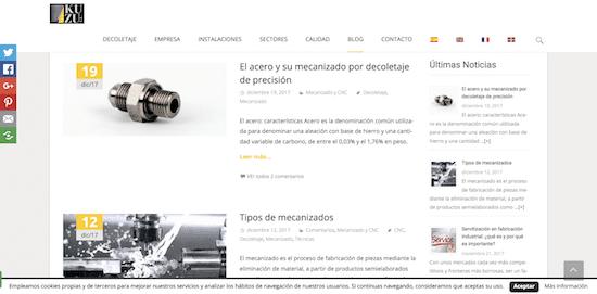marketing de contenidos en empresas industriales ejemplo blog
